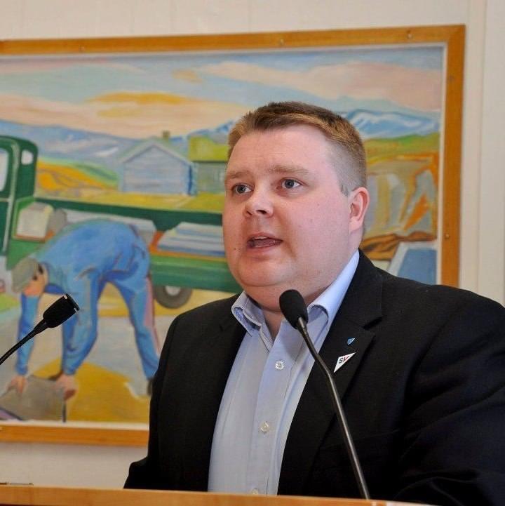 Tommy Berg (SV), Alta, er gruppeleder for SV i fylkestinget Finnmark og Troms
